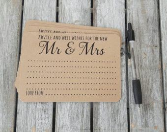 Wedding Message In A Bottle Notecards Only Guest Book Alternative Guestbook