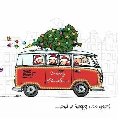 VW Christmas & New Year #christmas #noel #combi #vw