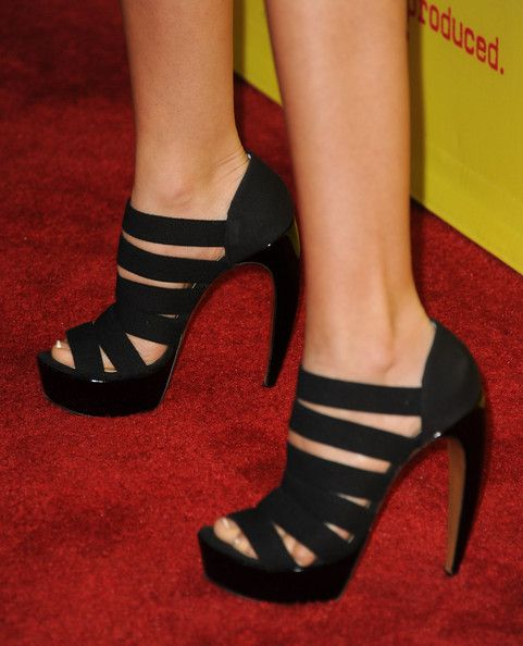 """Ashley Tisdale Photos Photos - Actress Ashley Tisdale (shoe detail) attends the premiere of Relativity Media's """"Movie 43"""" at TCL Chinese Theatre on January 23, 2013 in Hollywood, California. - Premiere Of Relativity Media's """"Movie 43"""" - Red Carpet"""