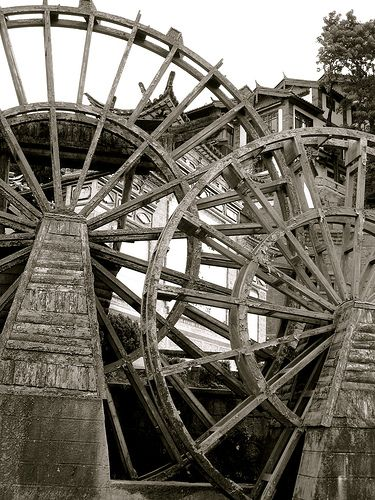 Water Wheels, Li Jiang, China