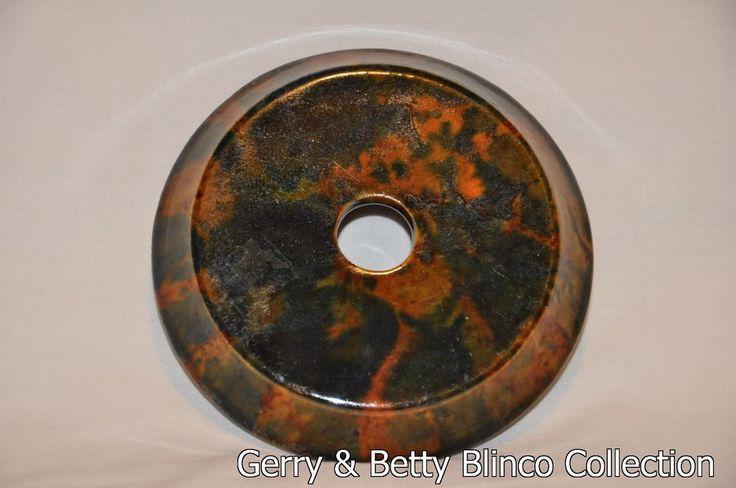 3.5cm x 13.5cm Carbide Lamp Lid Australian pottery Campbell - Blinco collection