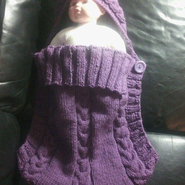 Hand knitted baby sleeping bag  newborn £38