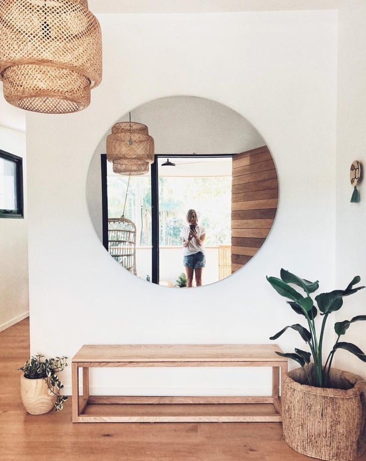 Circle Entrance Mirror Circle Entrance Mirror Sack Leather