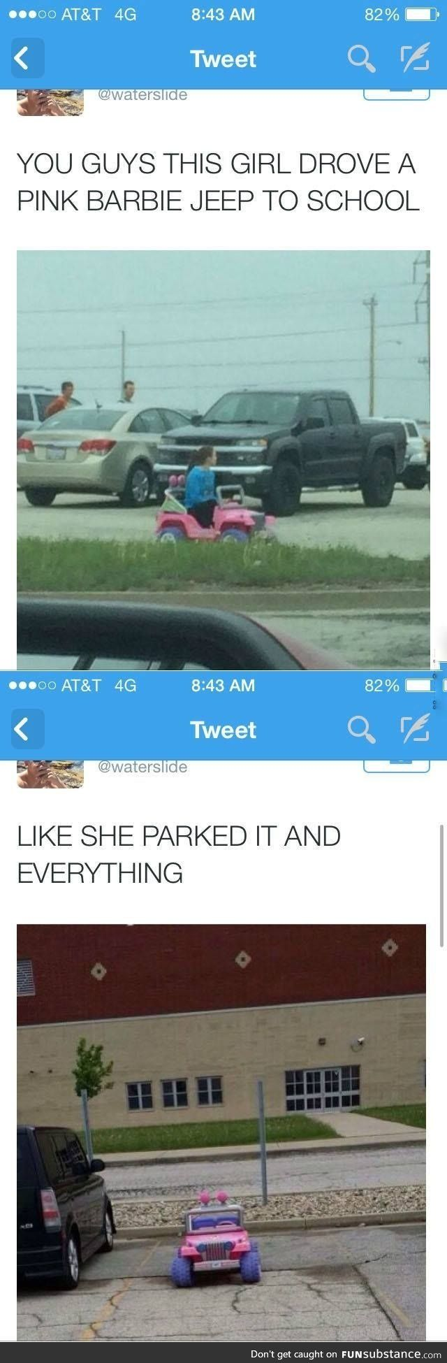 I can't xD<<<<I can't even drive across my yard in a Barbie jeep! I have bruises from crashing into my mailbox....