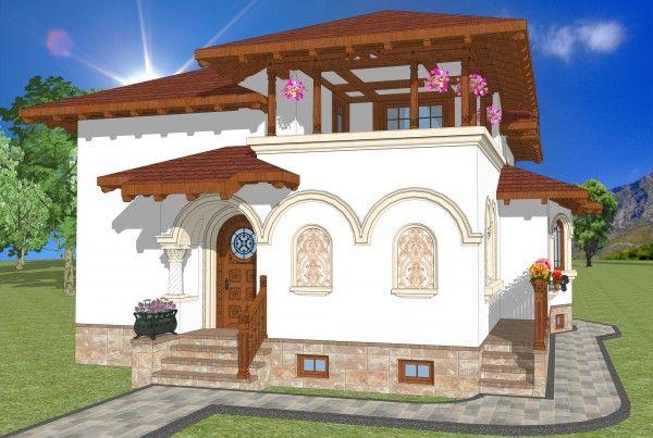 Casa Liliana, arhitect Adrian Paun / stil #neoromanesc
