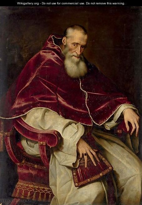 Popes...Ehh, I dont know...Hardly the best force in the world so far. Anyway: Portrait of Alessandro Farnese (1468-1549), Pope Paul III (1534-1549), seated three-quarter-length, in a papal robes. Painted by Scipione Pulzone, born 1550 in Gaeta, Italy, dead 1 februari 1598 in Rome Italy.(fo fo)