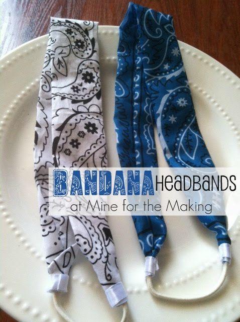 Mine for the Making: Bandana Headbands {tutorial}