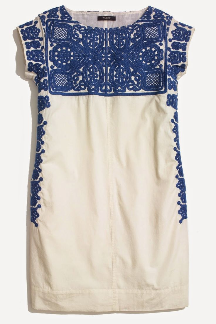 I admit this may be more of a shirt with leggings for me (ha), but what is this fascination with blue and white? I'm noticing a trend here. * Embroidered Casita Dress