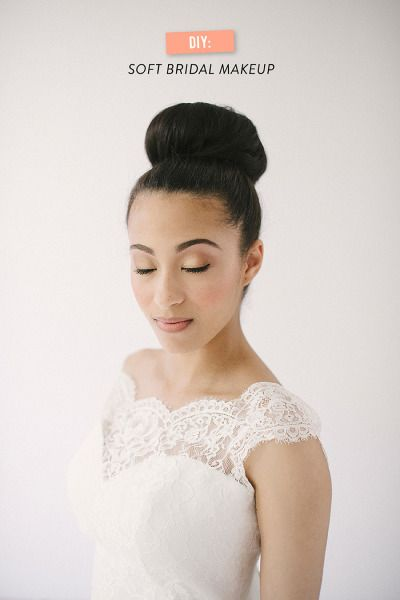 Soft bridal makeup: http://www.stylemepretty.com/2014/09/23/diy-bridal-makeup-tutorial/ | Photography: Tina Boyd - http://www.tinaboyd.co/