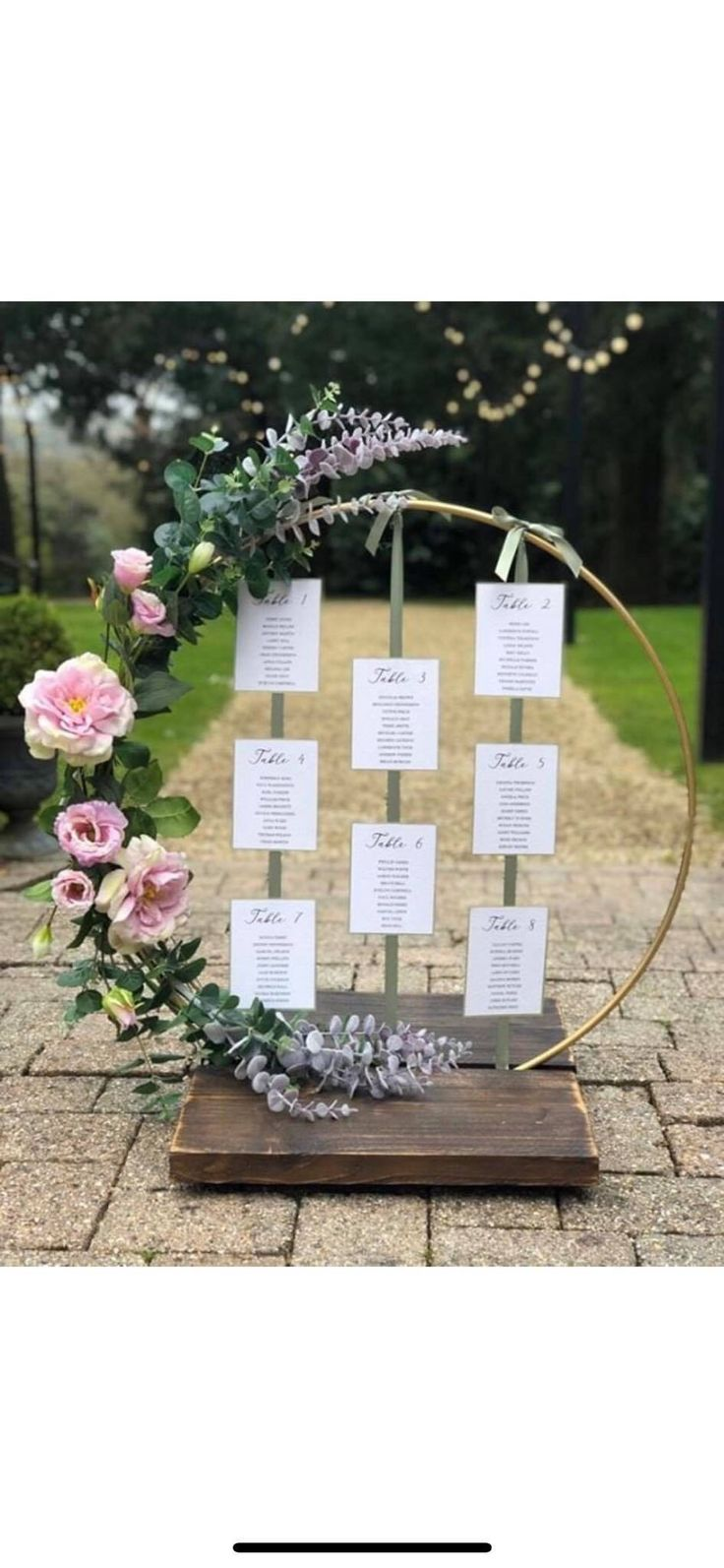 Hoop Centre piece. perfect for DIY brides, florists and venue dressers. Made with recycled reclaimed wooden