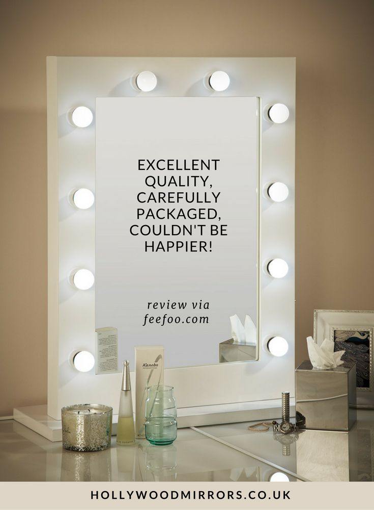 Feefo Customer Review Hollywood Mirror in White Gloss | SHOP NOW at https://www.hollywoodmirrors.co.uk/products/makeup-vanity-mirror-with-lights-for-sale Makeup Mirror with Lights Dressing Table Mirror with Lights Vanity Mirror with Lights Illuminated Makeup Mirror Holllywood Mirror UK Light Up Makeup Mirror Hollywood Mirrors