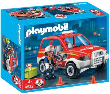 Playmobil 4822 Fire Chief and Car: Amazon.co.uk: Toys & Games