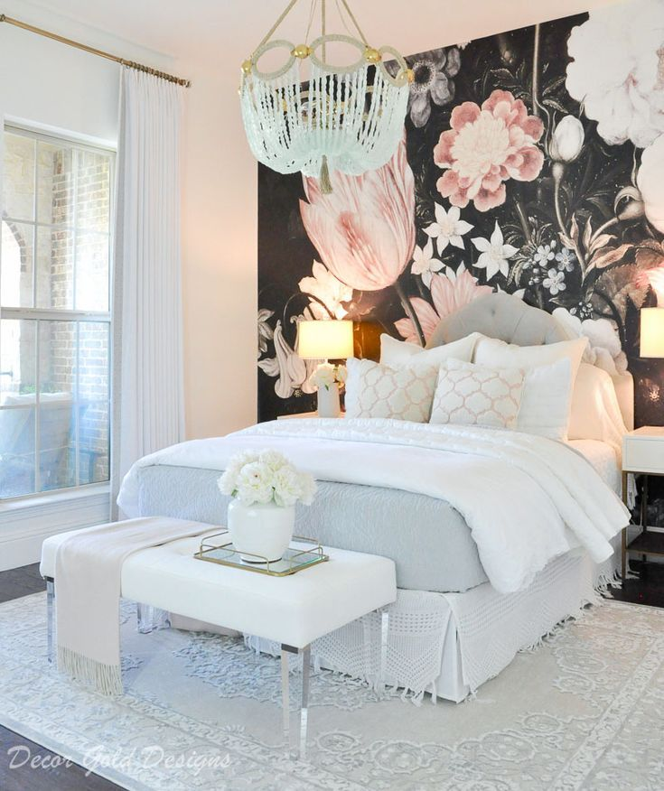 Sources Floral Bedroom Guest Bedroom Decor Black Floral Wallpaper