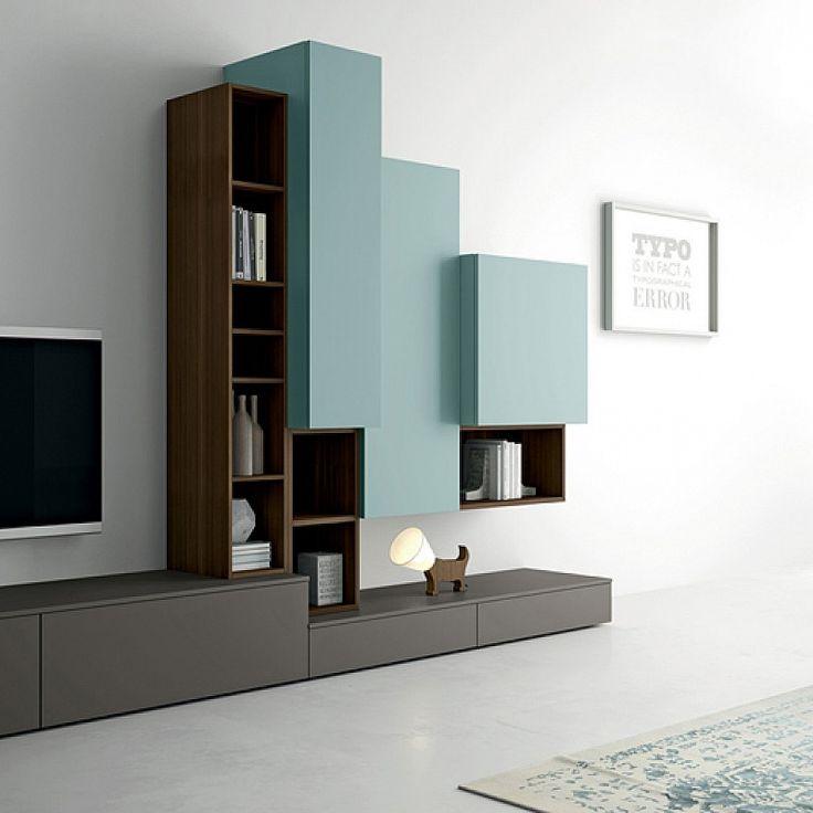dallagnese contemporary minimalist design tv unit slim wall
