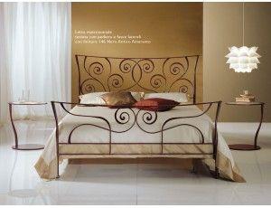 Klimt letto in ferro battuto - Letto in ferro battuto (ferro pieno) in versione matrimoniale, da 120 cm o singolo. Rete esclusa ad eccezione delle versioni con contenitore.  Colori disponibili in un'ampia gamma (Vedi immagine campione colore).