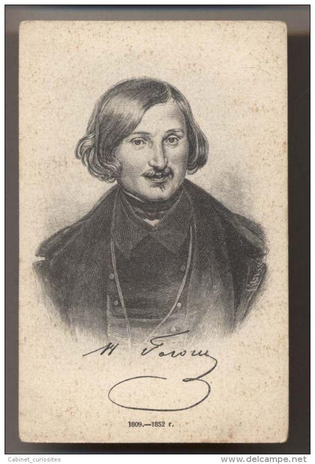NICOLAS GOGOL - Portrait - Editeur Scherer Nabholz &  Co  - CPA Russe originale - RARE