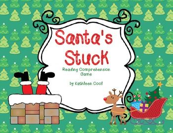 Freebie - Santa's Stuck reading comprehension game