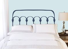 Full/Double Headboard decal  - Wrought Iron Style - Vinyl wall sticker decal on Etsy, $54.99