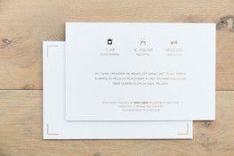 huwelijk I gouden folie I druktechniek I letterpress