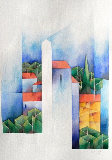 Kapelle in Messinia, 2009, Aquarell, 51 x 36 cm