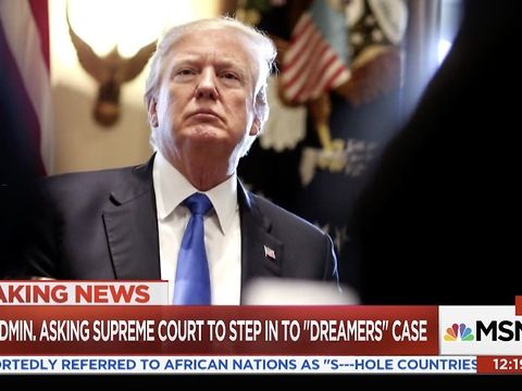 """The Trump administration said Tuesday that it will rush to the U.S. Supreme Court within a few days by skipping over a federal appeals court, hoping for quick action in the legal battle over shutting down the DACA program.<br><br>""""It's an extremely unusual request, one that is granted once in a blue moon,"""" said Tom Goldstein, publisher of the SCOTUSBlog website. """"It's a signal by the Trump administration that they take this issue incredibly seriously and think the justices should…"""