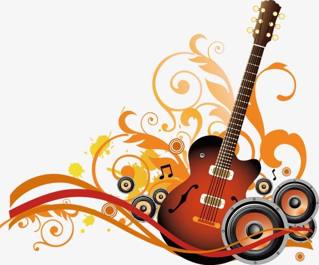 music themes  trend  dynamic  guitar png and vector with
