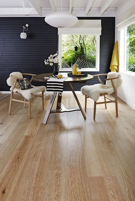 Smoked & Limed American Oak timber floors by Royal Oak Floors.  www.royaloakfloors.com.au  Photo & Interiors: Doswell & Mclean