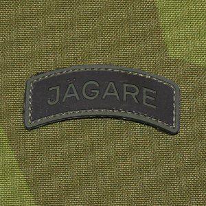 High quality PVC Jägare tab patch