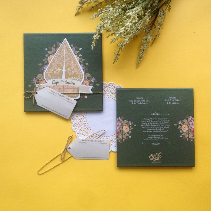 Wedding invitation with Javanese culture touch | Creative Invitation by Mainmata Wedding | http://www.bridestory.com/mainmata-wedding/projects/creative-invitation