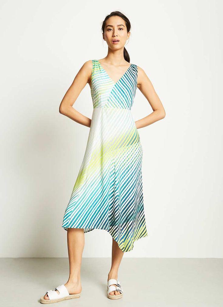 GEORGIA PRINT ASYMMETRIC DRESS | Mint Velvet