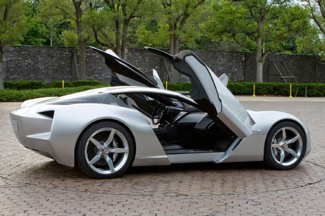 4 2009 Corvette Stingray Concept Side Door Open