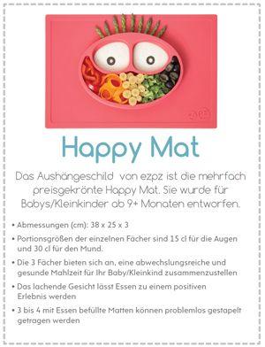"""EZPZ - """"Happy Mat"""" - Rutschfester Teller für BLW (Baby let weaning), Breifrei"""