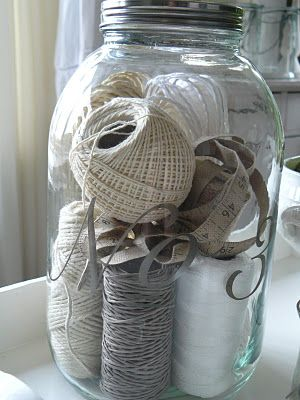 cute (casual) way to store twine and string
