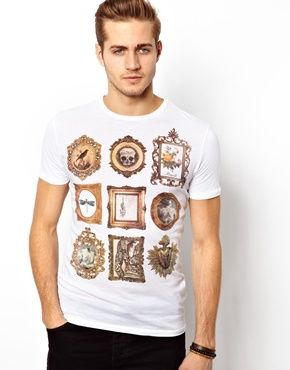 Antony Morato T-Shirt With Skull Frames Print