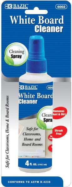 Bazic 4 oz. White Board Cleaner Case Pack 24