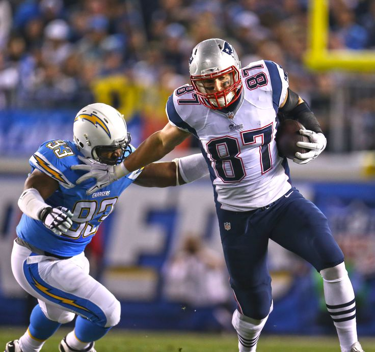 Rob Gronkowski became the first tight end in NFL history to have four 10-plus touchdown seasons #NEvsSD