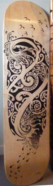 Diseños Tablas Skate Tattoo Maori 2012