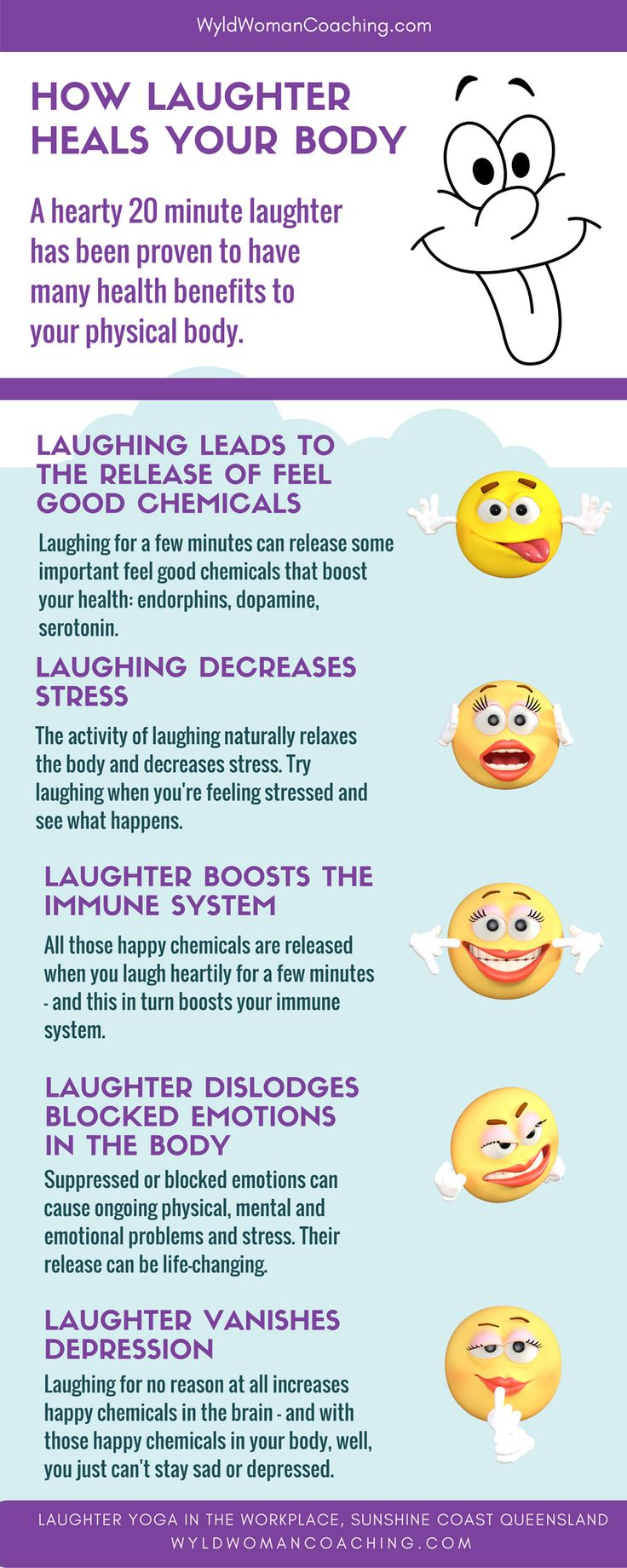 How laughter heals your body. #laughteryoga #positivity #wyldwoman