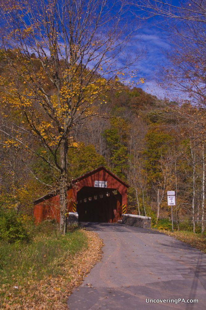 Soneston Covered Bridge in Sullivan County, Pennsylvania - http://uncoveringpa.com/visiting-the-covered-bridges-of-sullivan-county