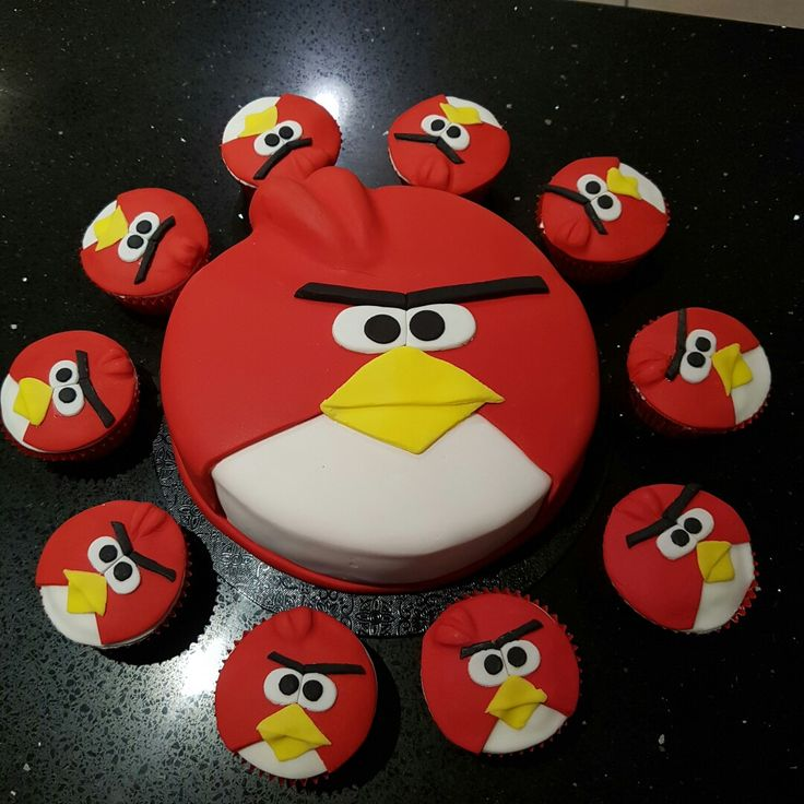 Flock of Angry Birds by Coubrati Cakes