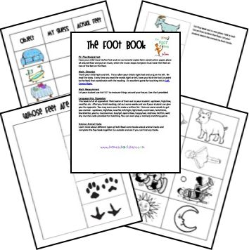 free printable lesson plans for Dr. Seuss' ABC, The Foot Book, The