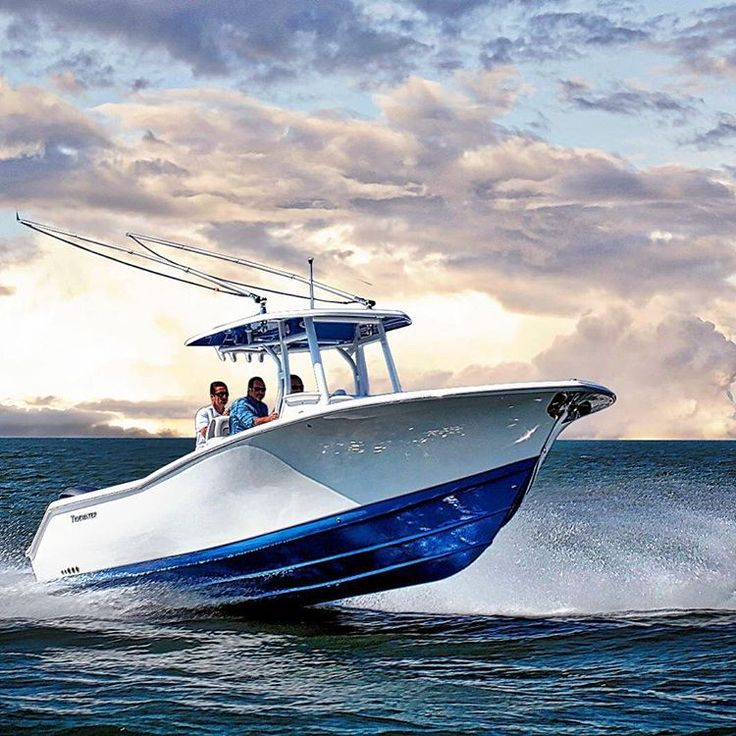 Beautiful Blue And White Tidewater Center Console Fishing Boat - Blue fin boat decalsblue fin sportsman need some advice pageiboats