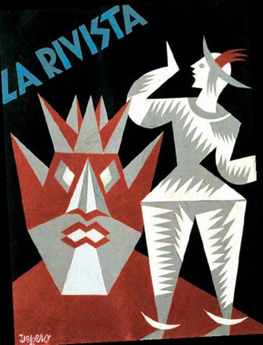 Fortunato Depero, 1930-31, La Revista. (I) #Italian_Futurism