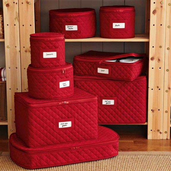 Captivating Williams Sonoma, Quilted China Storage Cases, $30 40