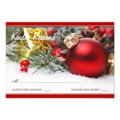 246 best christmas wedding invitations images on pinterest festive christmas wedding rsvp card stopboris Choice Image