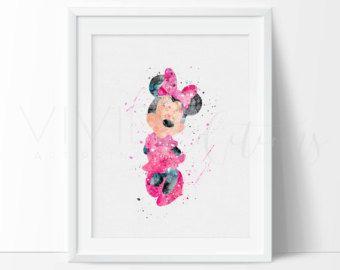 Mickey Mouse Print Disney Nursery Art Print Wall by VIVIDEDITIONS