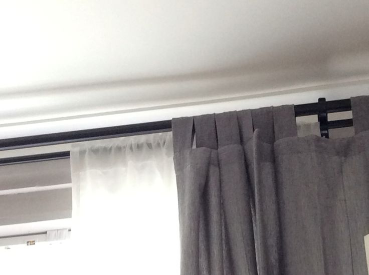 Double Curtain Rod From IKEA Adds Warmth To The Room I Think Grey