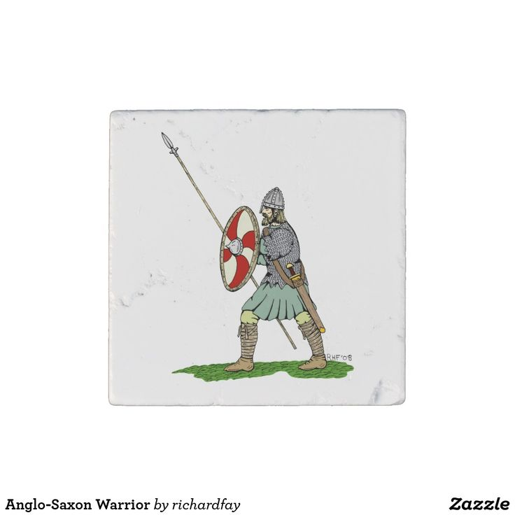 Anglo-Saxon Warrior Stone Magnet.  40% off with code STICK2GETHER  Offer is valid through April 15, 2017 11:59 PM PT.  #zazzle #stone_magnet #magnet #Anglo_Saxon #Saxon #Saxon_warrior #round_shield #winged_spear #byrnie