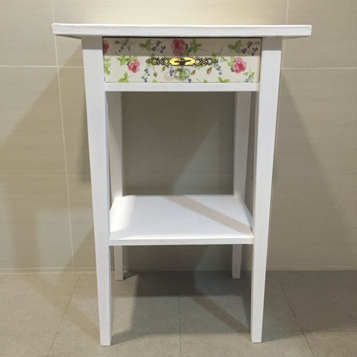 Newly painted and decoupage with floral design fleurdelis.tictail.com