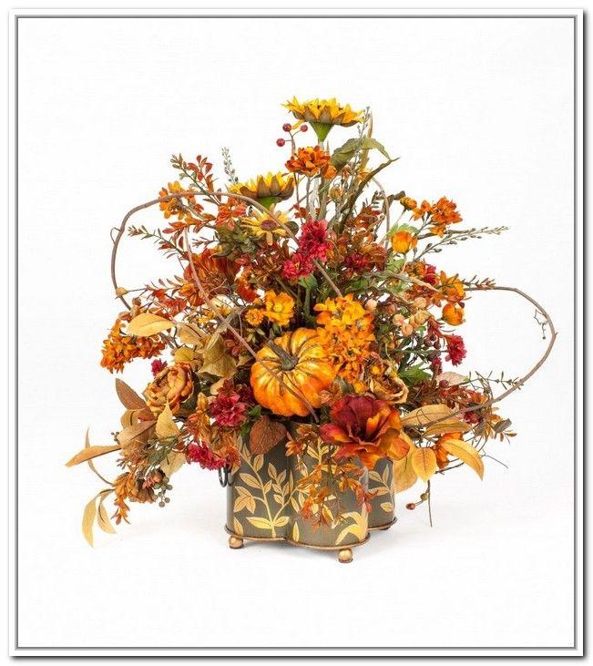 203 best ideas about flower arrangements on pinterest for Fall fake flower arrangement ideas